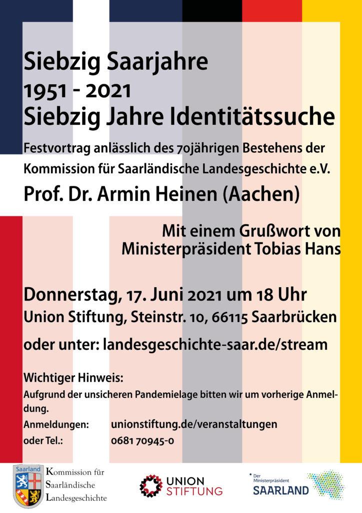 70 Jahre Kommission für Saarländische Landesgeschichte