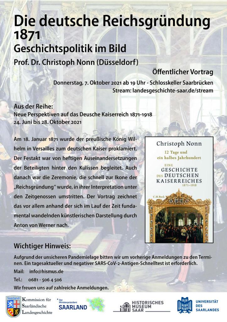 PM Vortrag – Die Deutsche Reichsgründung 1871